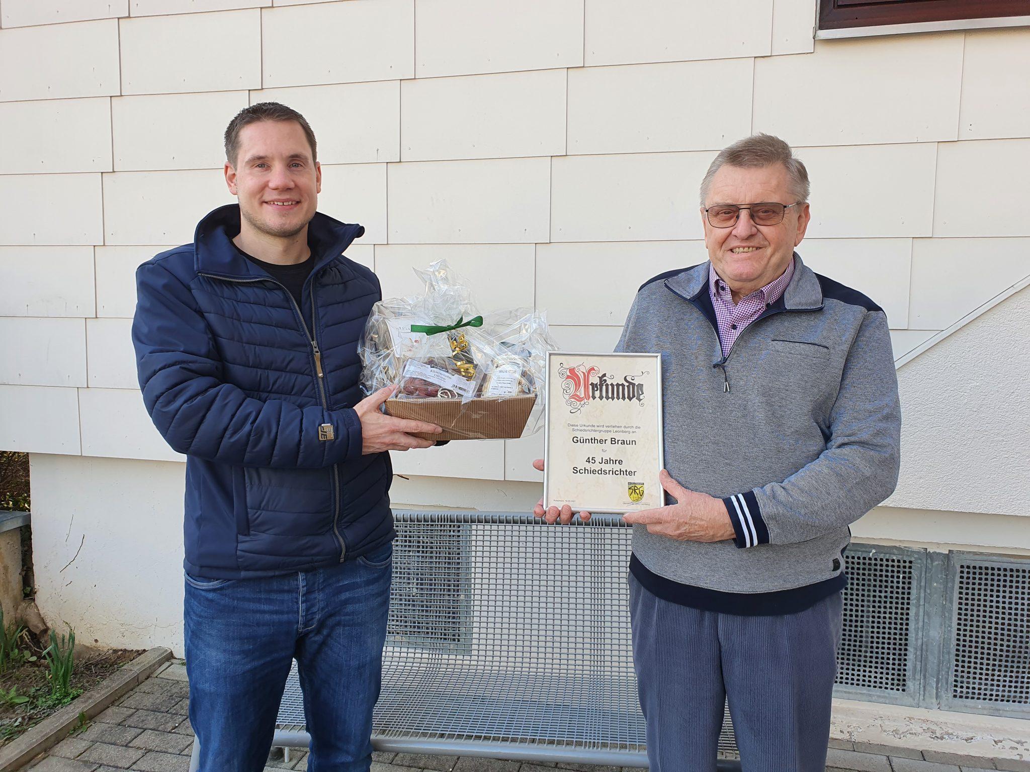 Günther Braun - 45 Jahre Schiedsrichter